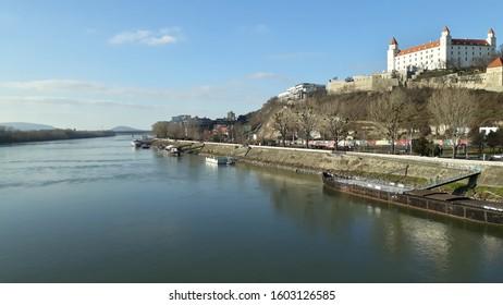 Castle at the river, Bratislava, Slovensko, Europe.