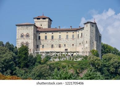 The castle of Rocca Borromea at Angera on Italy