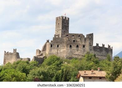 Castle ruin Castel Drena in Trentino, Italy