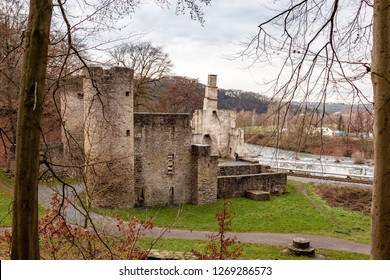Castle ruin Hardenstein on the Ruhr near Witten in Muttental