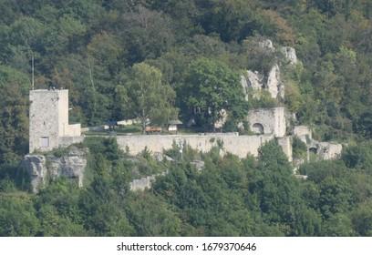 Castle Ruin Hiltenburg, Geislingen, BaWü, Germany