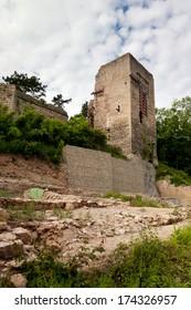 castle ruin Lobdeburg - historic building, germany