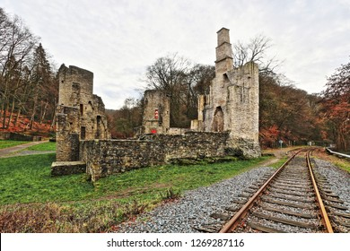 Castle ruins Hardenstein on the Ruhr near Witten on the Ruhr Val