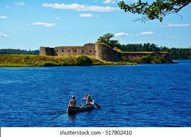 Castle ruins of Kronoberg in Vaexjoe, Sweden