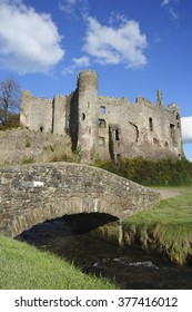 The castle ruins, Laugharne, Carmarthenshire, Wales, UK