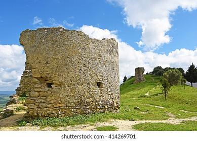 Castle ruins of Medina Sidonia, Cadiz.