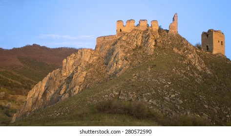 Castle Ruins in the Mountains