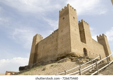 Castle in Sadaba Zaragoza Aragon Spain
