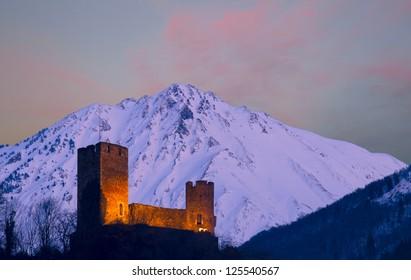 Castle Sainte-Marie, Luz-Saint-Sauveur, Midi-Pyrenees, France