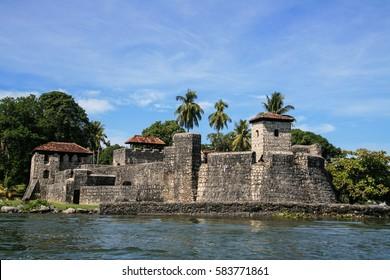 Castle of San Felipe next to Dulce river. Guatemala
