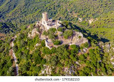 Castle of San Vicente de Burriac in Cabrera de Mar Barcelona Spain