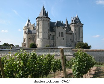 The castle of Saumur on the Loire river in France