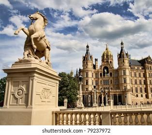 Castle of Schwerin, Northern Germany (Mecklenburg-Vorpommern)