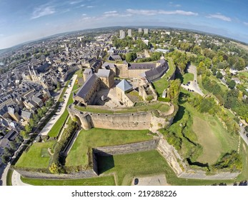 Castle of Sedan, Champagne-Ardenne, France (aerial view)