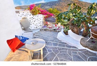 castle at Sifnos island Cyclades Greece
