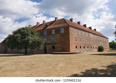 The Castle Sonderburg in the southern Danish town of Sonderburg