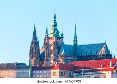 Castle and St. Vitus Cathedral. Czech Republic
