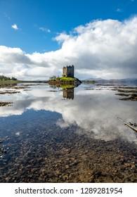 Castle stalker in Argyll - Highlands of Scotland, UK.