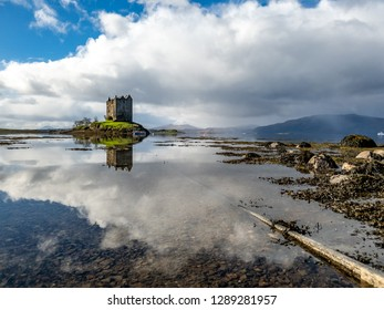 Castle stalker in Argyll - Highlands of Scotland, UK.