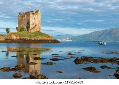 castle stalker oban scotland united kingdom europe