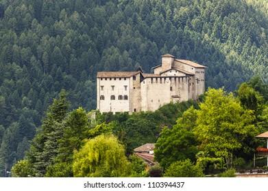 Castle of Stenico (Trento, Trentino Alto Adige, Italy) at summer