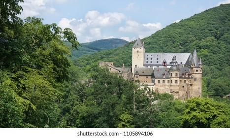 Bürresheim Castle in summer