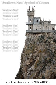 """Castle """"Swallow's Nest."""" The symbol of Crimea. isolated"""
