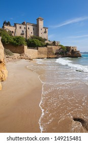 Castle of Tamarit from Cala Jovera, Tarragon, Catalonia.