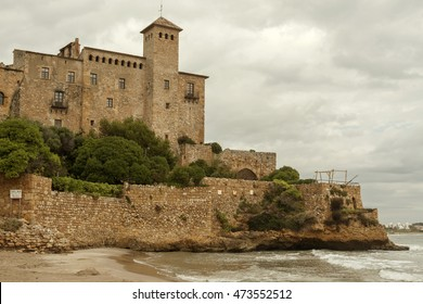 Castle of Tamarit, Tarragona, Costa Daurada, Catalonia, Spain.