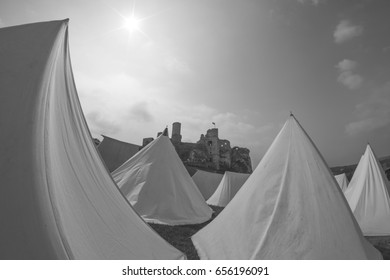 Castle and tents