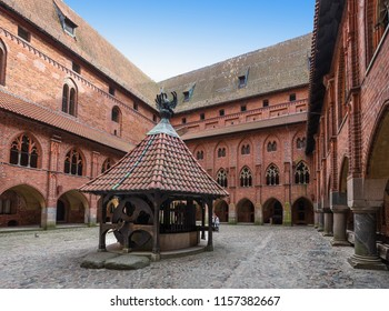 The Castle of the Teutonic Order in Malbork build in 13th-century located near the town of Malbork, Poland. It is the largest castle in the world measured by land area and a UNESCO World Heritage Site