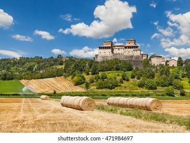 Castle of Torrechiara near Parma. Italy