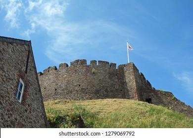 castle in totnes, devon, great britain