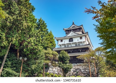 The castle tower of Iwakuni castle in Iwakuni city, Japan