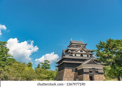 Castle tower of the Matsue castle in Matsue city, Japan