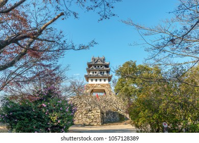 The castle tower of the Sumoto castle in Sumoto city, Japan