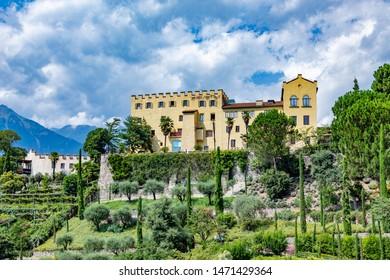Castle Trauttmannsdorf in Meran (Merano), region Botsen in Italy