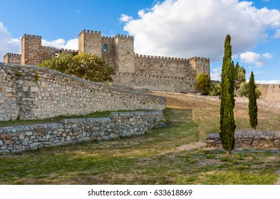Castle of Trujillo, a medieval village in the province of Caceres, Spain
