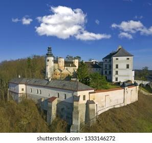 Castle Usov, Moravia region in Czech republic, Europe