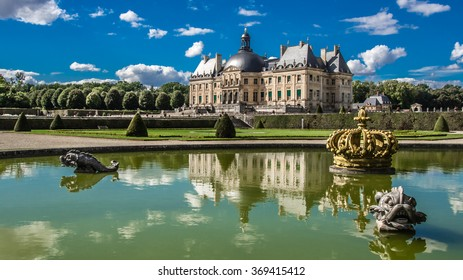 castle of Vaux le Vicomte, FRANCE - December 15, 2015: Castle located in the commune of Maincy (Seine-et-Marne). Built from 1658 to 1661 for Nicolas Fouquet, Louis XIV superintendent of finances.