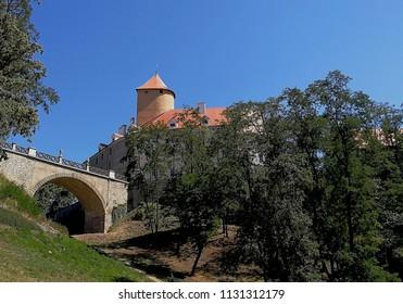 Castle Veveri  near Brno lake, Czech Republic