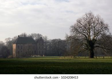 Castle Vorden in the Dutch region Achterhoek seen from the surrounding park