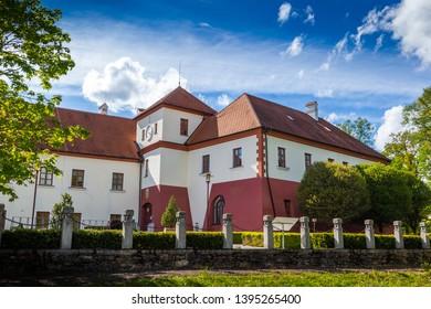 Castle Vysoky Hradek near Temelin in summer day. Czech Republic.
