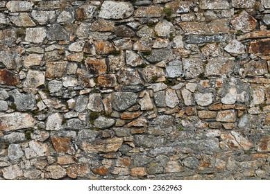Castle wall - Criccieth, Wales