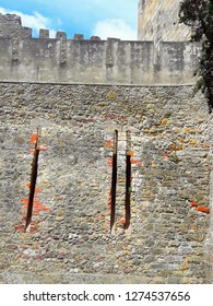 Castle wall and stone