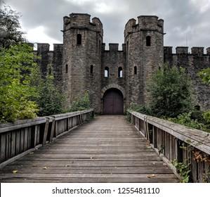 Castle walls and back door