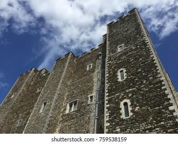Castle walls, blue sky