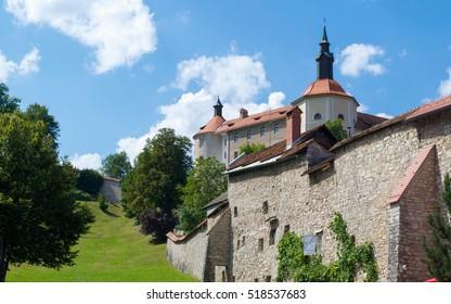 Castle and walls of Skofja Loka Castle, Slovenia