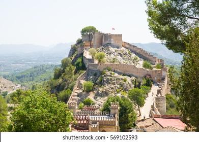 castle in Xativa, Valencia, Spain