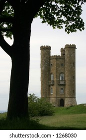 castleand tree  in the south west of england